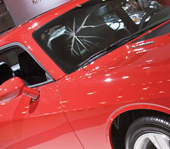 auto glass repair barrie red car cracked windshield